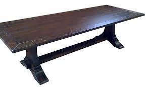 trestle base dining table base dining table