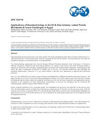 applications of nanotechnology in the oil u0026 gas industry latest