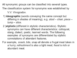 Light Synonyms Lexicology As Linguistic Discipline Lexicology Is A Branch Of