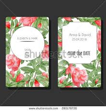 save the date birthday cards set vector card templates decorative apple stock vector 277116026