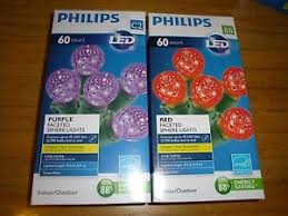 philips 60 sphere lights new philips 60 pcs red purple led faceted sphere lights green wire