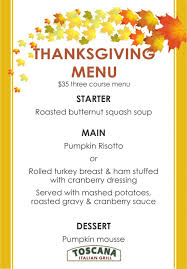thanksgiving splendi thanksgiving dinner menu traditional and