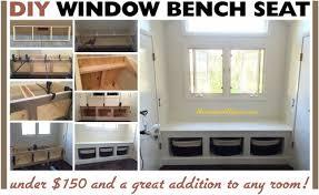 Window Seat Bench - storage bench seat window seat cushions diy window bench seat