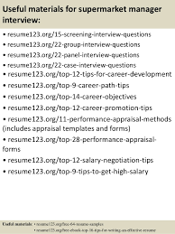 Resume For Grocery Store Manager Top 8 Supermarket Manager Resume Samples
