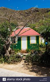saint barthélemy french west indies typical old house in the small