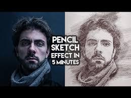 pencil sketch effect in few clicks tutorial youtube