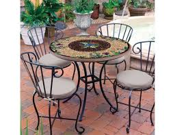 Tile Bistro Table Knf Designs Mosaic Tiled Tiered Decorative Table