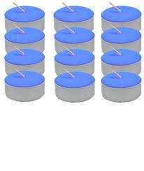 blue tea light candles spiritual supplies tea light candle dozen blue unscented lucky