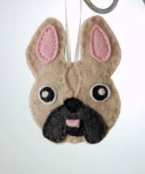 bulldog francés personalizado sentía ornamento perro por tumus