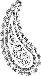 floral paisley coloring free printable coloring pages