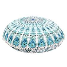 amazon com franterd floor pillows round pillowcases indian