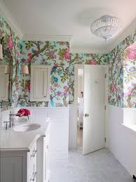bathroom wallpaper for theroom flower floral border cool