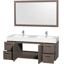 ackley 60 inch white finish single sink bathroom vanity cabinet