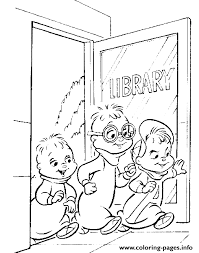 library alvin chipmunks coloring pages printable