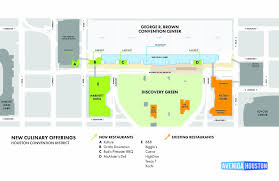 houston map convention center lineup of new convention center restaurants announced houstonia