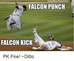 Falcon Punch Meme - pace cerrt falcon punch falcon kick pk fire ditto meme on me me