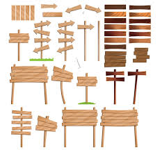 vector wooden sign boards pictures signs and sayings