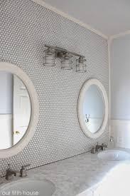 bathroom fantastic decorating ideas with hexagon bathroom tile