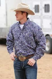 cinch men u0027s red dot print button long sleeve shirt cowboy style