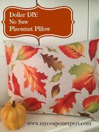 fall dollar tree decor diy no sew placemat pillow my coupon expert