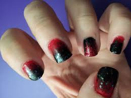 easy black and red ombre halloween witch vampire inspired nail
