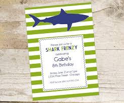 shark birthday invitation cabana stripe shark invite the homespun hostess