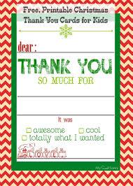christmas thank you cards free printable christmas thank you cards for kids my sweet sanity