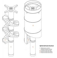 Helical Staircase Design Home Design Helical Staircase Structural Deck Spiral Plans House