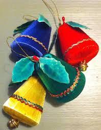 vintage satin bells tree decorations spun silk ornaments
