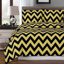 yellow chevron cotton duvet cover set products pinterest