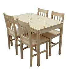 dining room sets 4 chairs foxhunter quality solid wooden dining table and 4 chairs set
