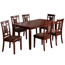 Walnut Dining Room Sets Venetian Worldwide Montclair 7 Piece Dark Walnut Dining Set