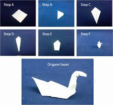 How To Make A Paper Beak - showcase an origami swan inside a serene environment