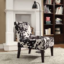Printed Chairs Living Room by Have A Cow Print Chair For Interior With Sweet Milky Nuance