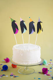 cake topers penguin cake toppers diy