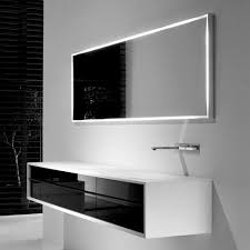 bathroom white solid wood floating bathroom cabinet with black