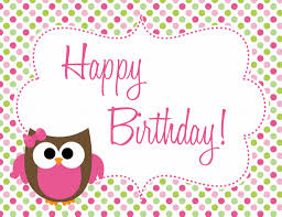 owl birthday freebie