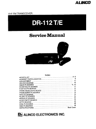 alinco old dr 112 service manual