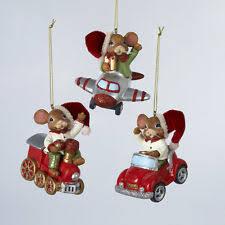 kurt adler mouse christmas ornaments ebay