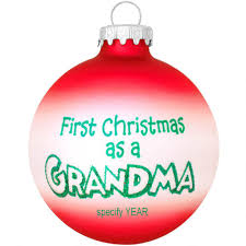 personalized first christmas as grandma glass ornament bronner u0027s