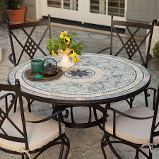 Patio Dining Sets Seats 6 - mosaic patio dining set seats 4 dining table 4 dining chairs 4
