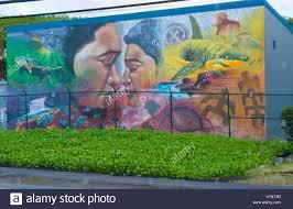 honolulu hawaii oahu artwork of hawaiian mural in small town of honolulu hawaii oahu artwork of hawaiian mural in small town of waimanalo on south oahu