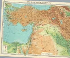 The Middle East Map by Afternoon Map A Map Of The Middle East Immediately After World