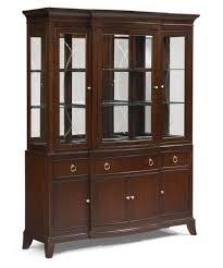 dark wood china cabinet legacy classic laurel heights 3 door etched glass curio cabinet with