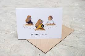 gin genie greeting card birthday card puns humour