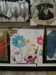 home goods art decor i liked this big bright pink canvas of the single flower the white