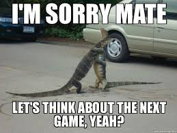Lizard Meme - bro lizard hug i m sorry mate let s think about the next game