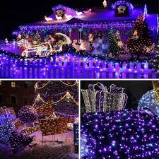 purple led christmasts white wire outdoortspurple with