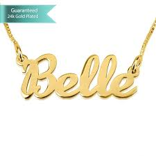 customizable necklaces 24k gold plated name necklace written customizable