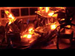 flicker flame string lights string of 25 christmas flicker flame bulbs in action youtube